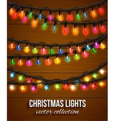 Colorful christmas light bulbs collection for vector image