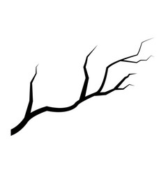 dark branch tree plant forest icon vector image vector image