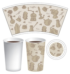 paper cup for coffee vector image vector image