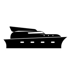yacht icon simple black style vector image