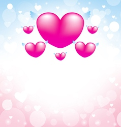 love heart pink background vector image vector image