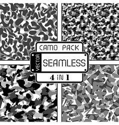 War black and white seamless camouflage pack vector image