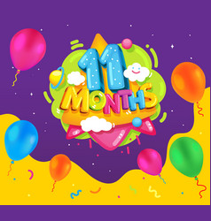 11 months vector image