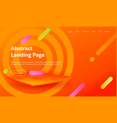 Abstract background landing page template website vector