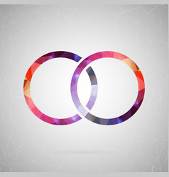 abstract creative concept icon of ring for vector image