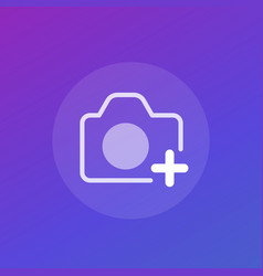 add photo icon with camera vector image