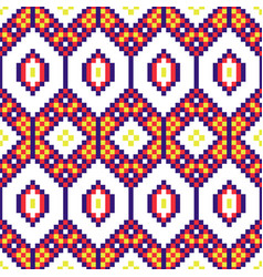 African geometric seamless pattern beaded texxture vector