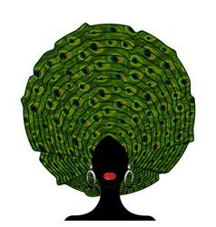 African wedding head wraps afro beauty portrait vector