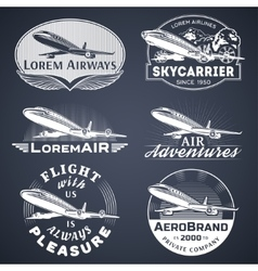 Air badges white vector image