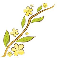 Apple blossom branch vector