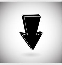 Arrow black down sign hand drawn sketch vector