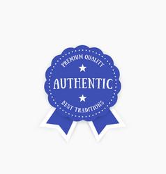 authentic emblem badge vector image