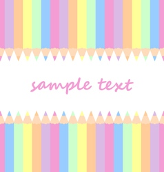 Baby background with pastel colored pencils vector