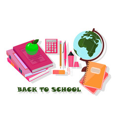 back to school tools template background vector image