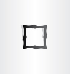 Black empty frame icon vector