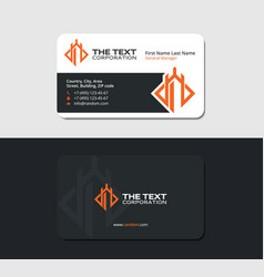 Blackish business card for tournament vector
