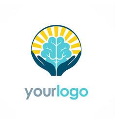 Brain idea logo vector