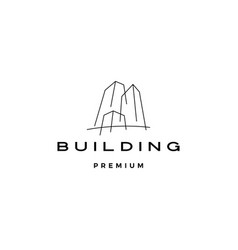 Building logo icon vector