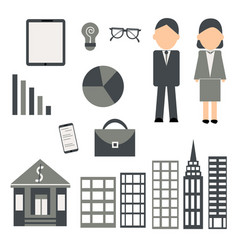 business set on white background vector image