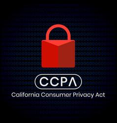 California consumer privacy act ccpa symbol vector