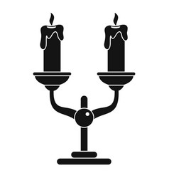 candles on stand icon simple style vector image