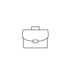 case isolated minimal icon bag graph line icon vector image
