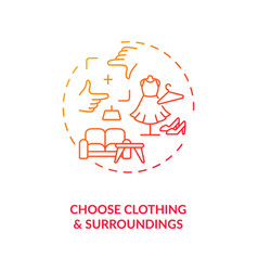 Choose clothing surroundings concept icon vector