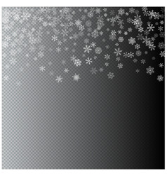 Christmas blizzard snowfall made from flat vector