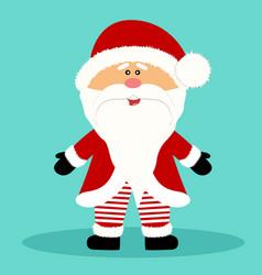 Christmas card santa claus isolated object vector