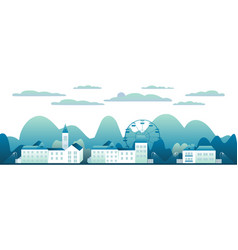 city landscape isolated in white background vector image