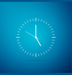 clock icon isolated on blue background time icon vector image
