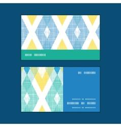 colorful fabric ikat diamond horizontal vector image