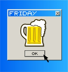 Computer beer message vector image