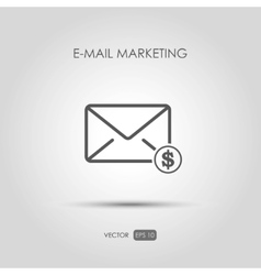 Copywriting icon E-mail marketing in linear style vector image