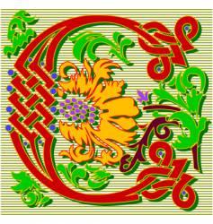 decorative letter C vector image