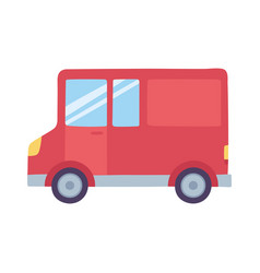 delivery truck transport service isolated icon vector image