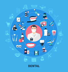 Dental round design concept vector