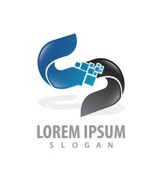 digital pixel letter s concept design symbol vector image