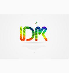 Dk d k rainbow colored alphabet letter logo vector