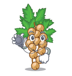 Doctor white currant isolated with the cartoons vector