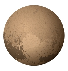 Dwarf planet pluto isolated on white vector