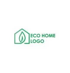 Eco home logo modern concept design vector