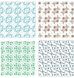Elegant seamless pattern set pattern fills vector