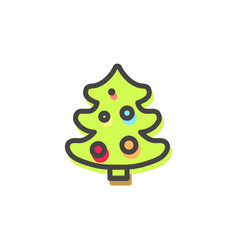 evergreen pine tree christmas vector image
