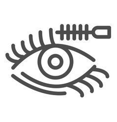 eyelashes and brush line icon eyes makeup vector image