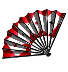 Fan and cards vector