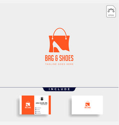 Fashion bag shoping with high heel negative space vector