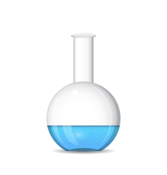 Flat bottomed chemical flask - lab glassware vector image