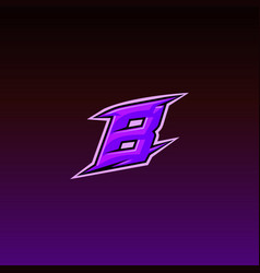 Game logo design letter b vector