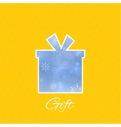 Gift box with a bow vector image